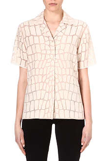 STELLA MCCARTNEY Croc-organza shirt