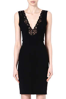 STELLA MCCARTNEY Lace-detailed crepe dress