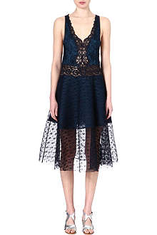 STELLA MCCARTNEY Lace-panelled dress