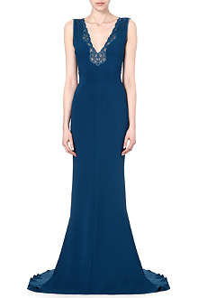 STELLA MCCARTNEY Lace-detailed crepe gown