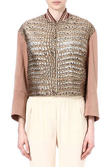 STELLA MCCARTNEY Crocodile jacquard bomber jacket