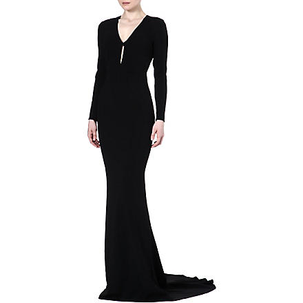 STELLA MCCARTNEY Crepe gown (Black