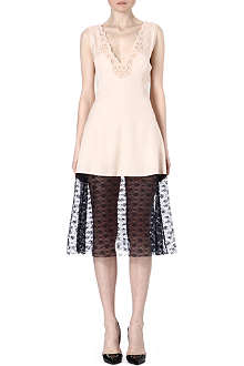 STELLA MCCARTNEY Lace-hem silk-blend dress