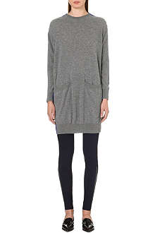 STELLA MCCARTNEY Contrast wool and crepe-blend tunic