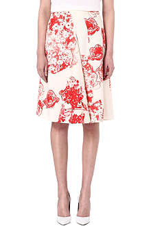 STELLA MCCARTNEY Floral print silk skirt