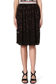 STELLA MCCARTNEY Daisy devoré skirt