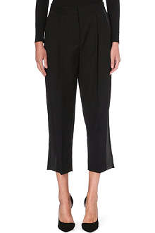 STELLA MCCARTNEY Cropped wide wool trousers