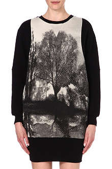 STELLA MCCARTNEY Forest-print oversized sweatshirt
