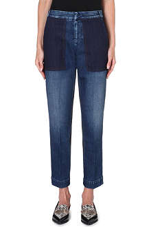 STELLA MCCARTNEY Patchwork straight-leg high-rise jeans