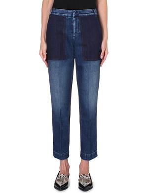 STELLA MCCARTNEY Patchwork straight-leg high-rise jeans
