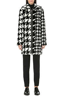STELLA MCCARTNEY Houndstooth faux-fur coat