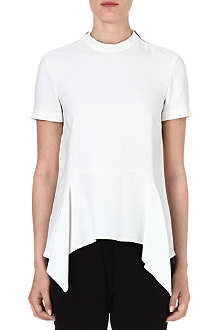 STELLA MCCARTNEY Peplum-waist crepe top