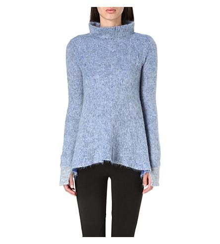 STELLA MCCARTNEY Turtleneck mohair-blend jumper (Blue