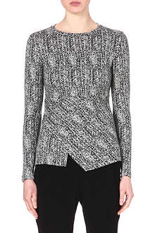STELLA MCCARTNEY Tweed-print jersey top