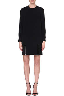 STELLA MCCARTNEY Zip-detail crepe dress