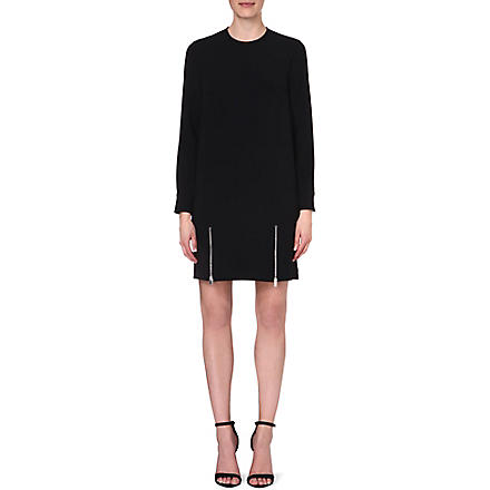 STELLA MCCARTNEY Zip-detail crepe dress (Black