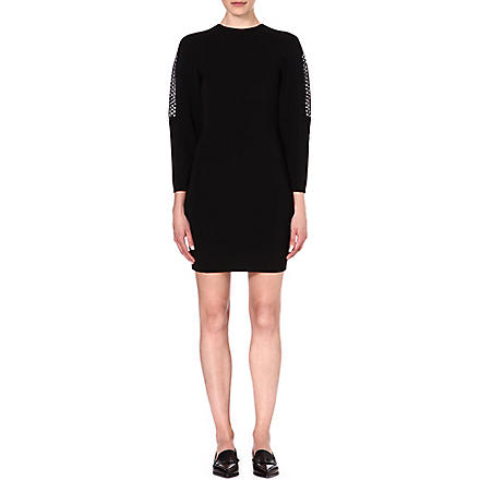 STELLA MCCARTNEY Open-knit dress (Black