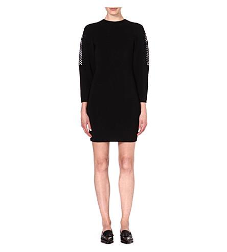 STELLA MCCARTNEY Open-knit dress (Black