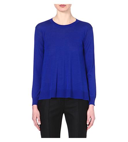 STELLA MCCARTNEY Wool and silk-blend jumper (Blue