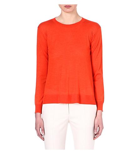 STELLA MCCARTNEY Wool and silk-blend jumper (Orange
