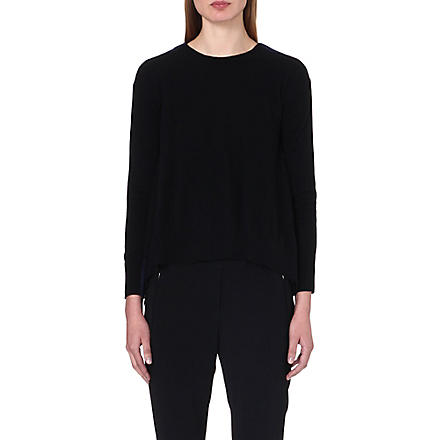 STELLA MCCARTNEY Contrast-back knitted jumper (Black
