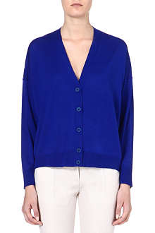 STELLA MCCARTNEY V-neck wool and silk-blend cardigan