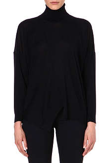 STELLA MCCARTNEY Turtleneck wool and silk-blend jumper
