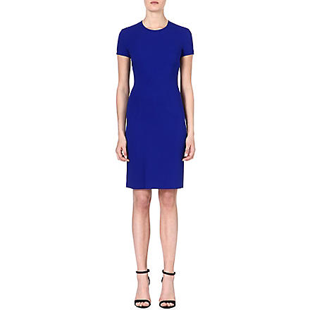 STELLA MCCARTNEY Flared-hemline crepe dress (Blue