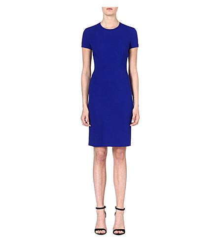 STELLA MCCARTNEY Flared-hemline crepe dress (Blue
