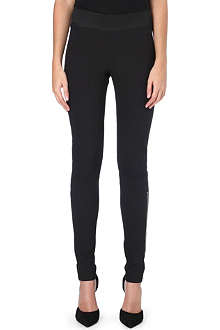 STELLA MCCARTNEY Skinny cotton-blend trousers