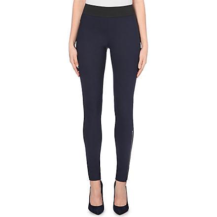 STELLA MCCARTNEY Skinny high-rise zipped cuff leggings (Navy