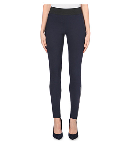 STELLA MCCARTNEY Skinny high-rise zipped cuff leggings (Navy
