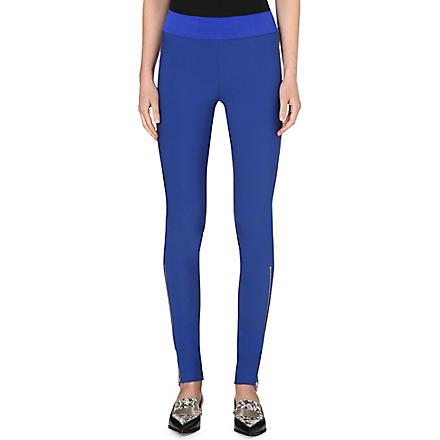 STELLA MCCARTNEY Ankle-zip jersey leggings (Blue