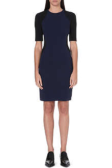STELLA MCCARTNEY Colour-blocked stretch-crepe dress