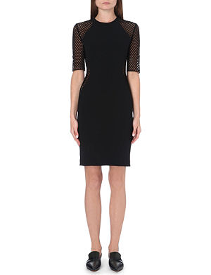STELLA MCCARTNEY Mesh-panelled crepe dress