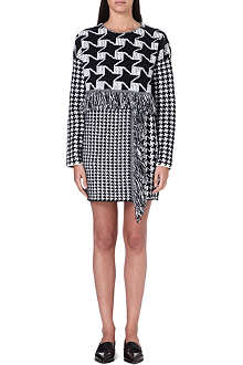 STELLA MCCARTNEY Contrast hounds tooth dress
