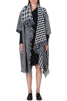 STELLA MCCARTNEY Houndstooth draped wool cardigan
