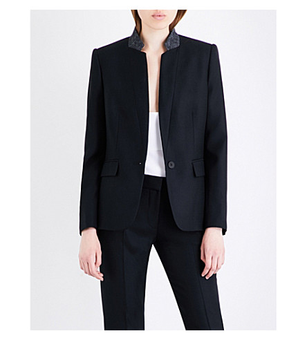 STELLA MCCARTNEY Fleur single-breasted wool jacket (Black