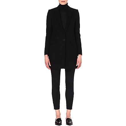 STELLA MCCARTNEY Single-breasted wool-blend coat (Black