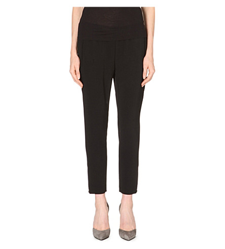 STELLA MCCARTNEY Cropped crepe trousers (Black