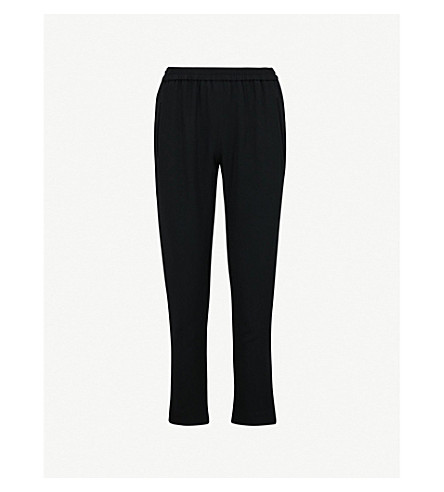 STELLA MCCARTNEY Tamara tapered stretch-crepe trousers (Blk