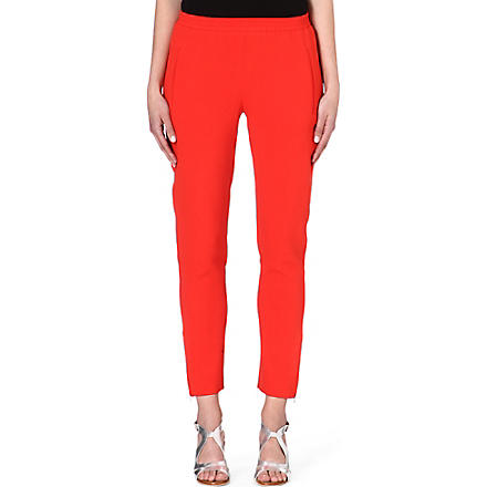 STELLA MCCARTNEY Crepe jogging bottoms (Orange