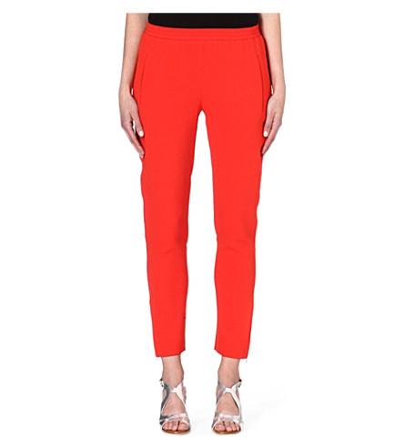 STELLA MCCARTNEY Cropped crepe trousers (Orange