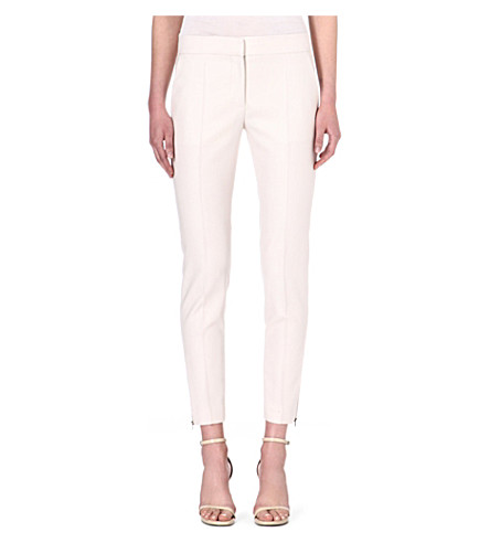 STELLA MCCARTNEY Vivianne wool trousers (Stone