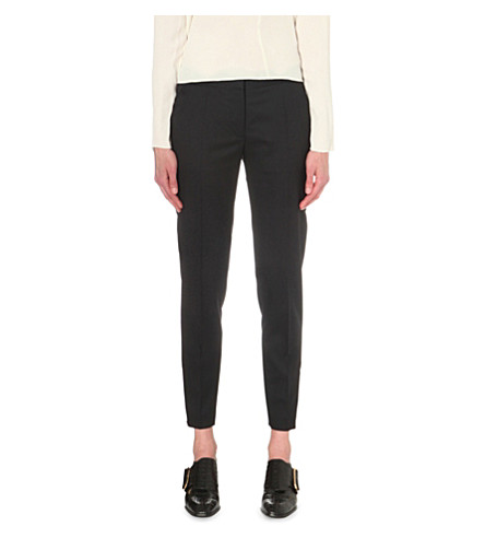 STELLA MCCARTNEY Vivian tapered wool trousers (Black