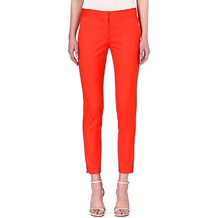 STELLA MCCARTNEY Vivianne wool trousers (Orange