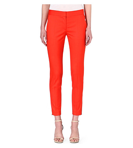 STELLA MCCARTNEY Vivianne wool trousers (Orange