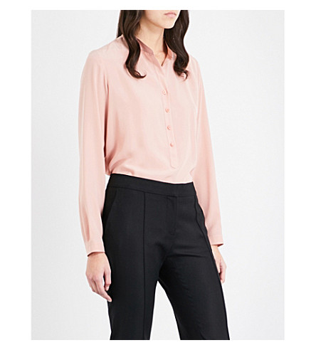 STELLA MCCARTNEY Eva silk shirt (Antique+rose