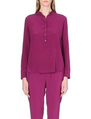 STELLA MCCARTNEY Buttoned-neck silk shirt