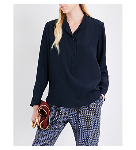 STELLA MCCARTNEY Eva silk shirt (Ink